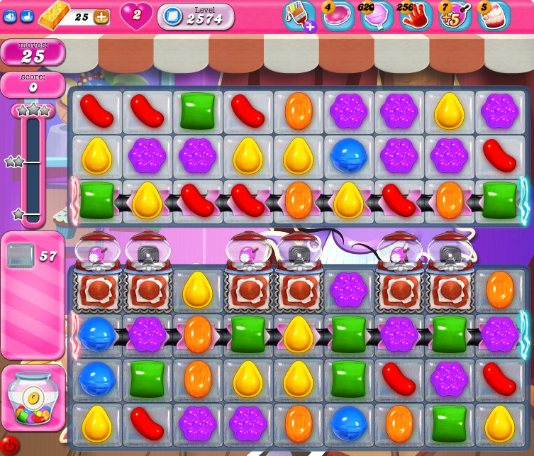 Candy Crush Saga level 2574