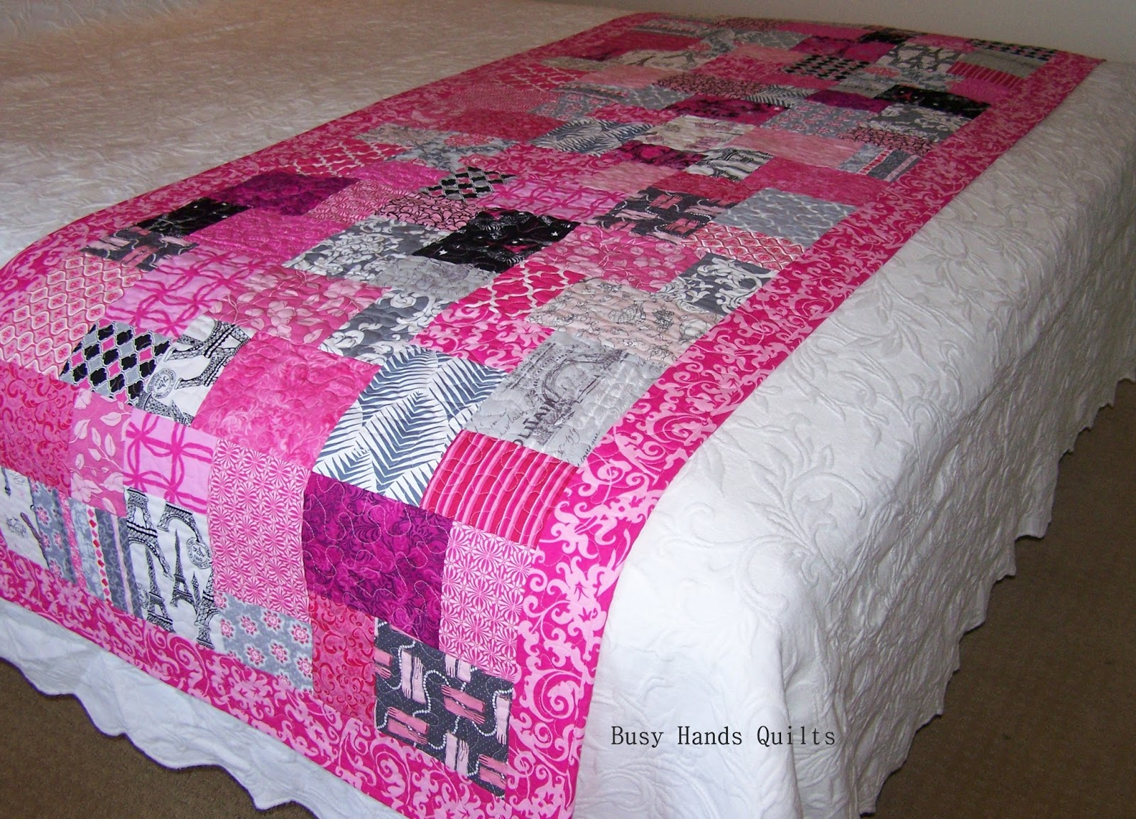 Busy Hands Quilts Custom Paris France Eiffel Tower Themed