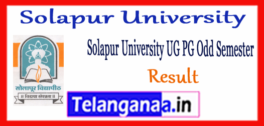 Solapur University UG  PG 1st 3rd 5th Semester Results 2017