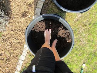 Information über die Füße abgeben