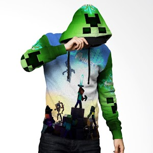 Fika Tema Minecraft 3D Full Print Sublimation Model PullOver Art 1 Jaket Hoodie Sweater
