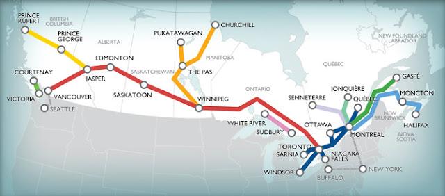 Trechos Via Rail Canada