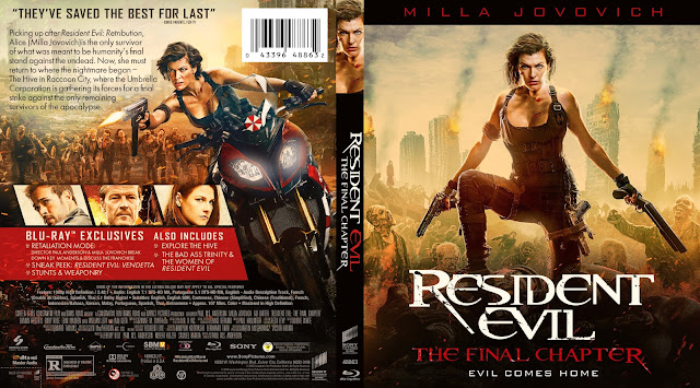 Resident Evil The Final Chapter Bluray Cover