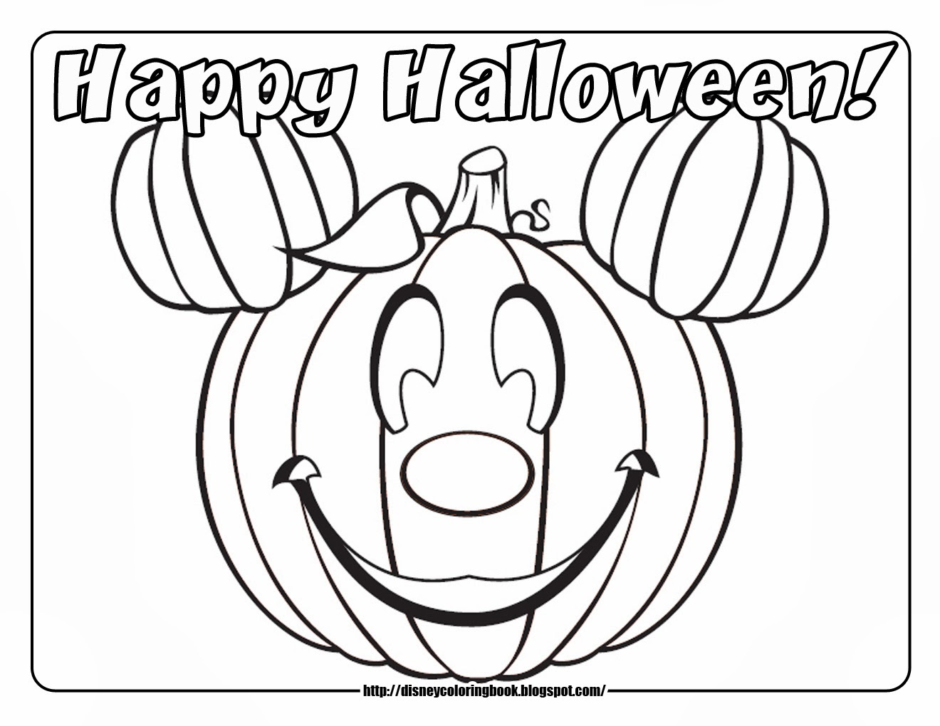Free happy halloween coloring pages template for print