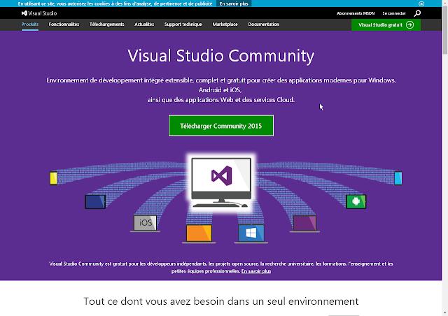 Visual Studio Community 2015 en téléchargement