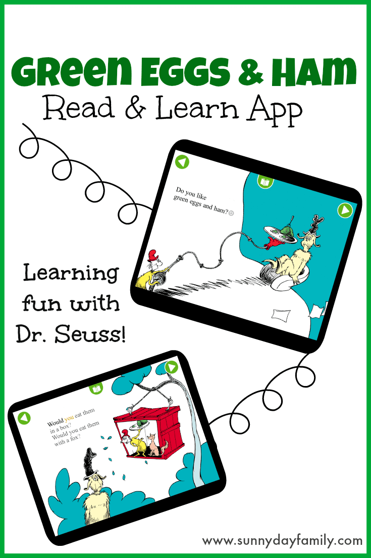 A Dr. Seuss classic comes to life with the new Green Eggs and Ham Read & Learn app! A fun learning app for kids age 3-6!