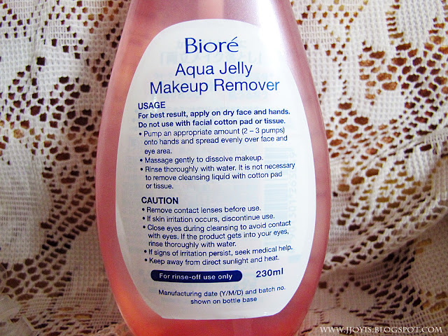 Biore jelly make up remover information