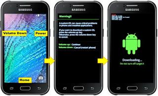 Cara Flash Samsung Galaxy J1 SM-J100H Lupa pola / Bootloop