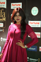 Monal Gajjar in Maroon Gown Stunning Cute Beauty at IIFA Utsavam Awards 2017 070.JPG