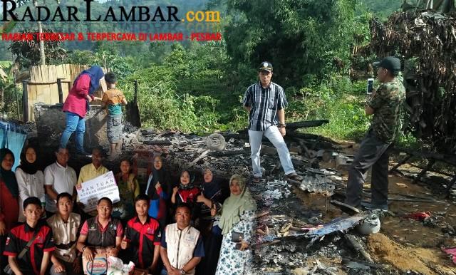 Pelaksana PKH Lambar Salurkan Bantuan ke Korban Kebakaran
