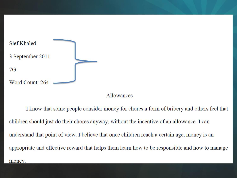 Mr Jb S Literature Class Proper Journal And Essay Format