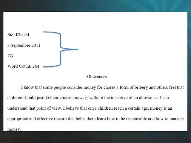 proper mla essay format