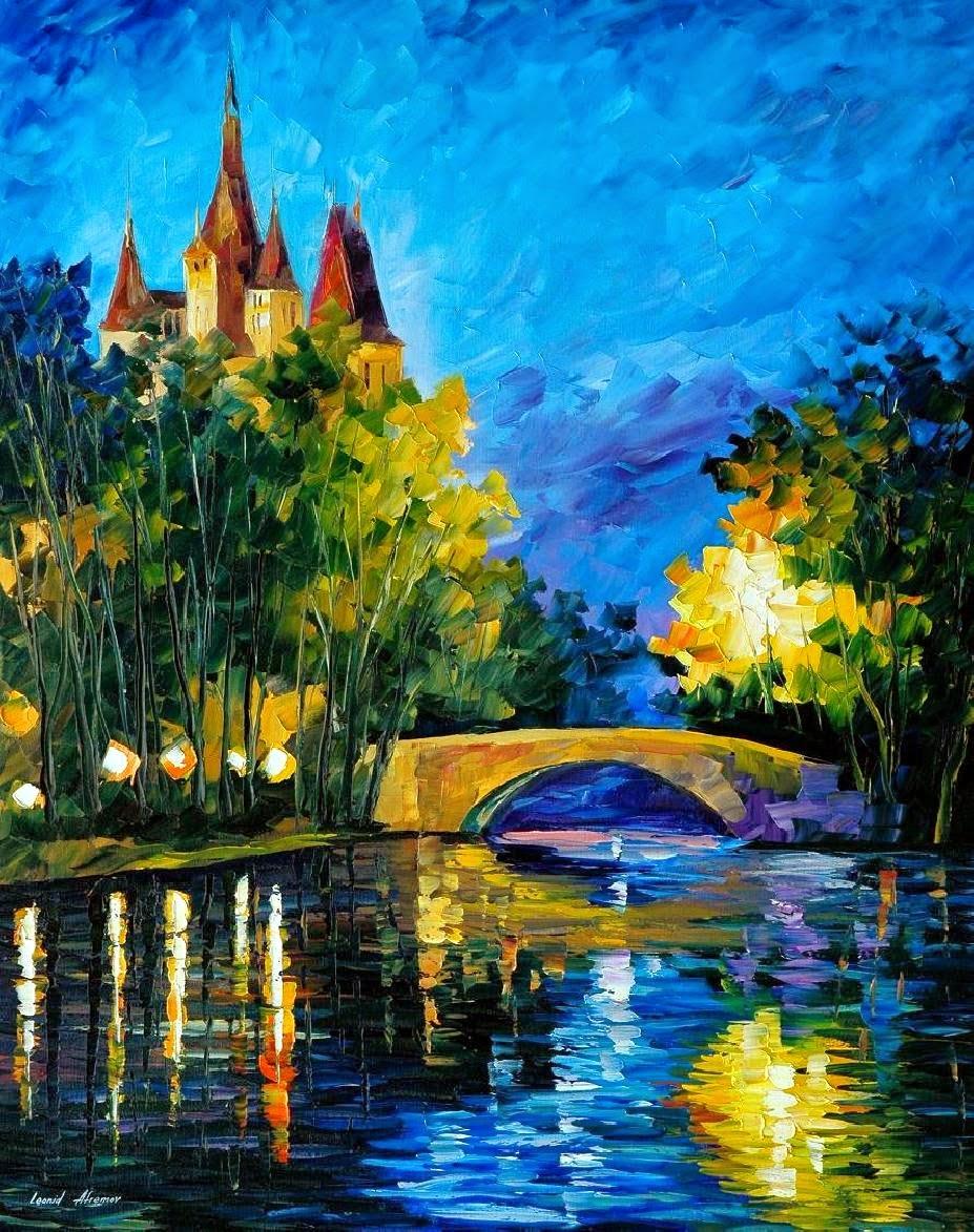 Ponte ao Longo do Tempo - Pinturas de Leonid Afremov | O mestres da  espátula