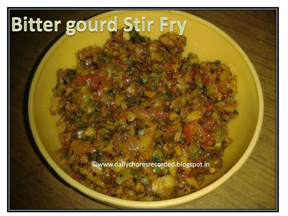 Bitter gourd Stir Fry |Pavakkai Poriyal| Pavakka Upperi