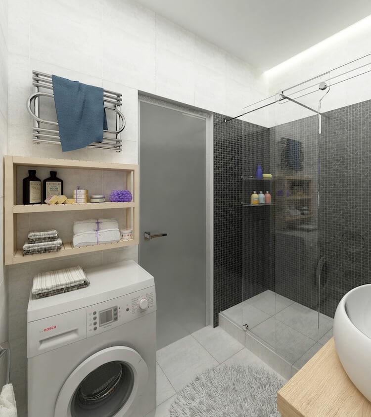 baño con zona de lavado