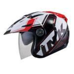 Helm INK T1 Seri 2 Putih Merah
