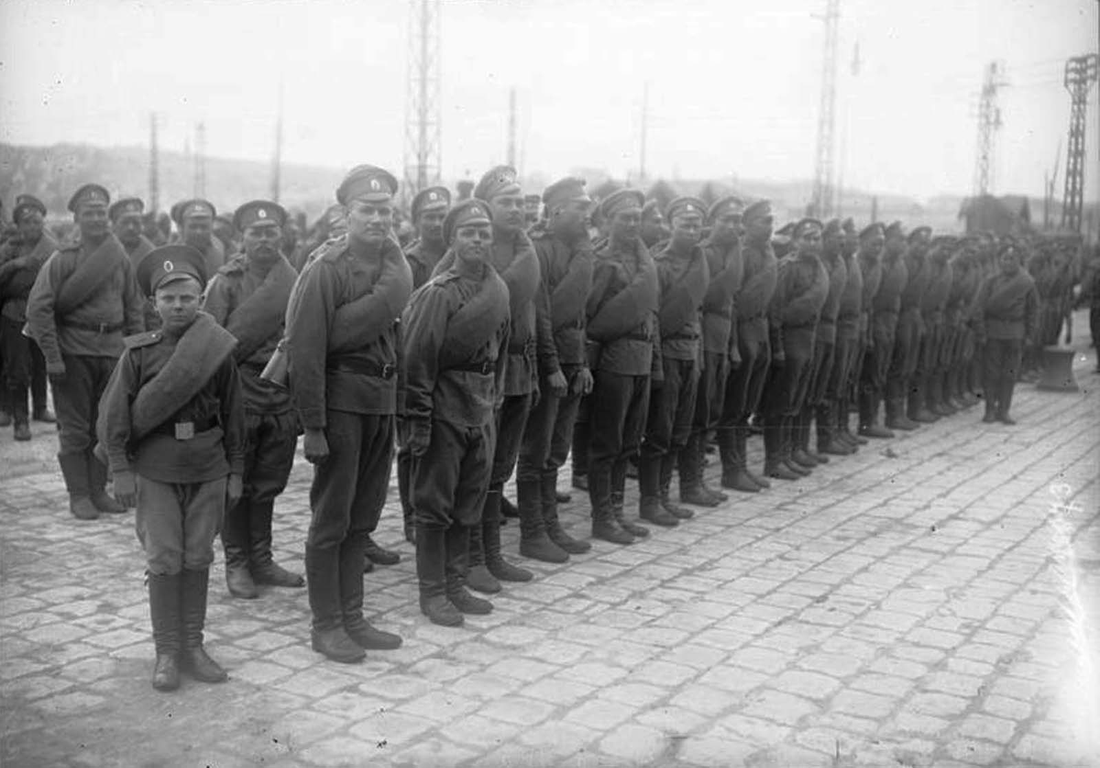 The 1st Russian Special Brigade formed in January, 1916 under the command of General Nikolai Aleksandrovich Lokhvitsky.