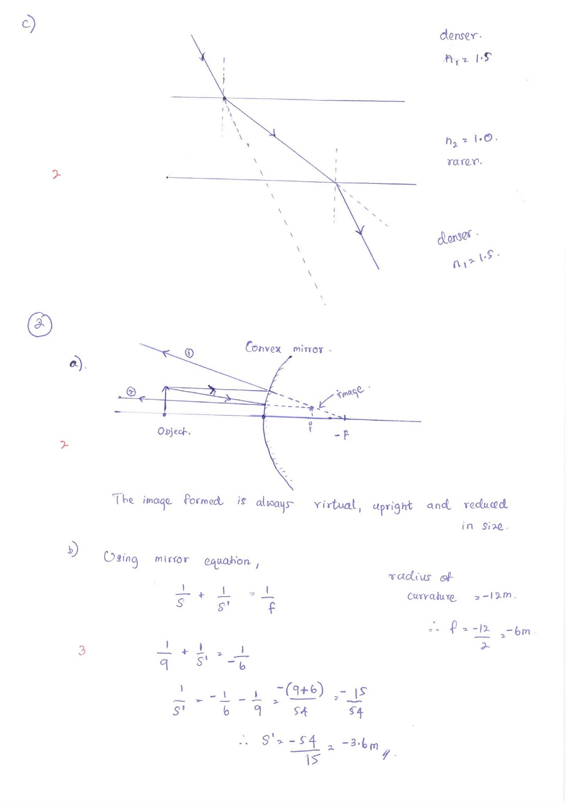 Lecture Notes In Physics Model Answers Refraction Of