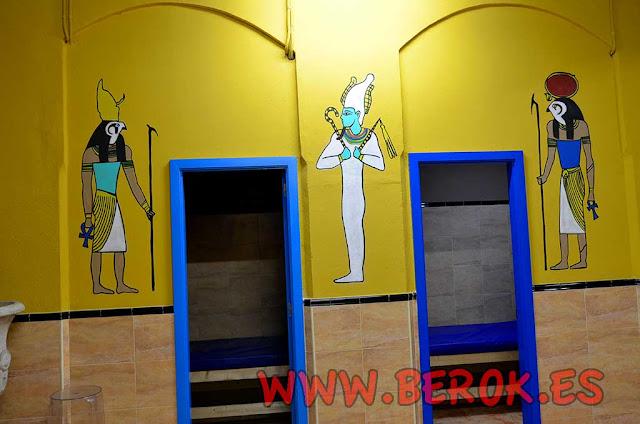 Murales de guerreros egipcios