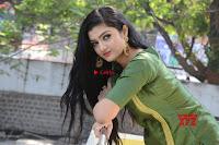 Akshitha cute beauty in Green Salwar at Satya Gang Movie Audio Success meet ~  Exclusive Galleries 019.jpg