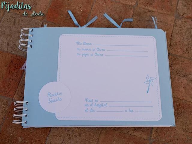 libro de firmas azul bebe para niño