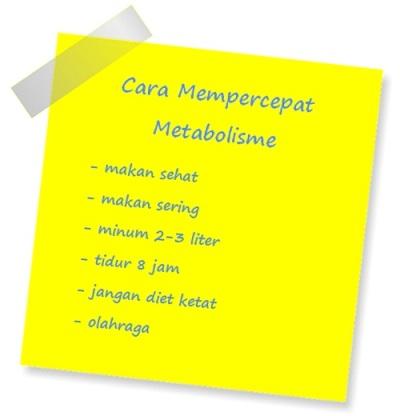 Lakukan 6 Cara Ini Untuk Mempercepat Metabolisme Tubuh