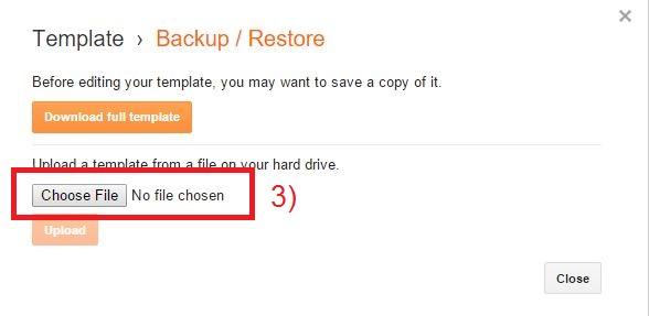 restore blogger template