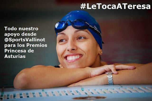 Teresa Perales aspira al Premio Princesa de Asturias de los Deportes