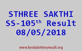 STHREE SAKTHI Lottery SS 105 Result 08-05-2018