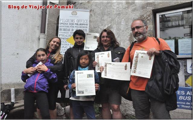 Obtención de la Compostela tras terminar el Camino de Santiago