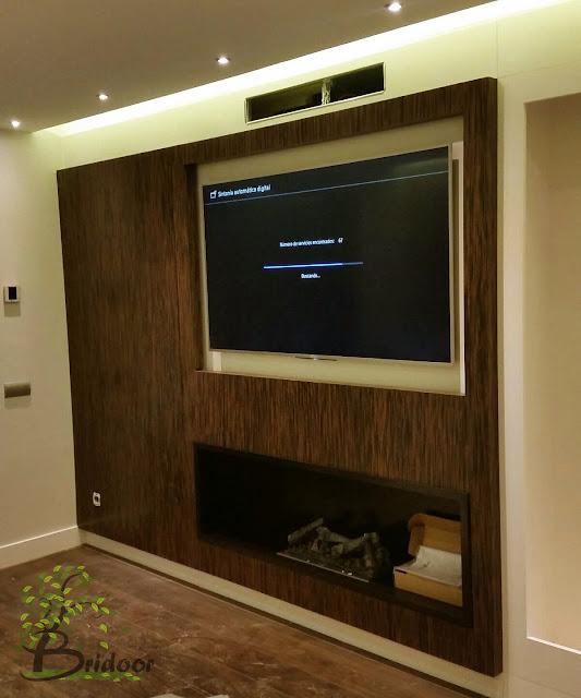 Panelado En Madera De Ebano Rojo Para Pared Television Decoracion - Panelado-madera