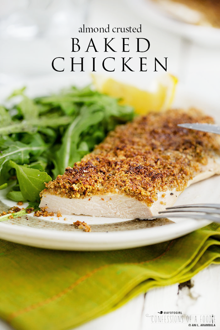 Everyday Eats} Almond Crusted Baked Chicken