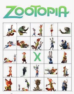 printable zootopia bingo
