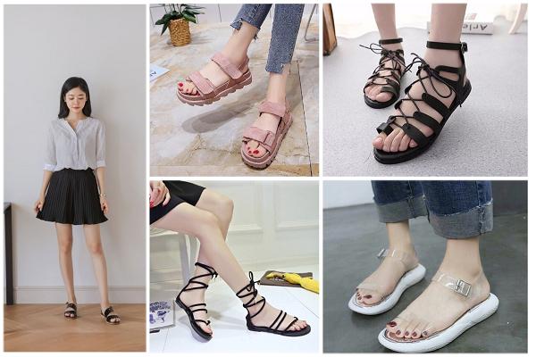 Những kiểu dép sandal nữ đi học đẹp nhất mùa hè 2019