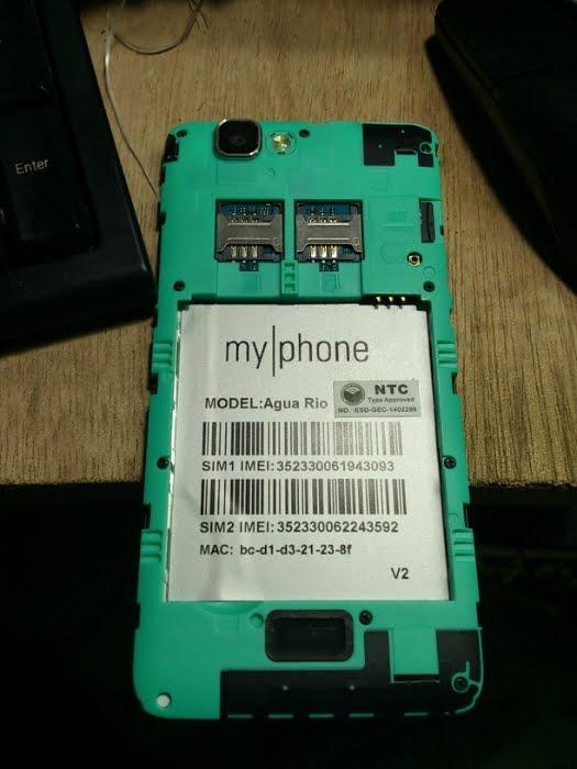 myphone agua rio fun v2 mt6582 firmware