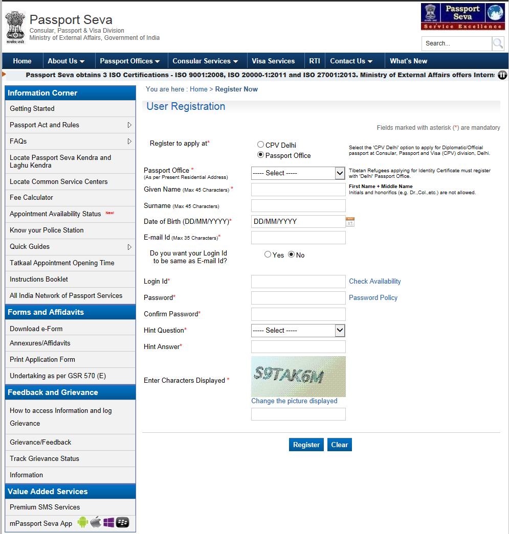 Online Passport Application India Sample Online Kasinon I Sverige