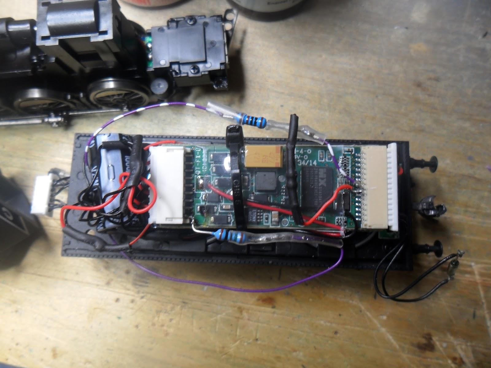 Bylong Adjusting The Lighting On A Eureka Models D50 Class Bit Shed Wiringjpg Extra Titan Decoder Wiring For Lights