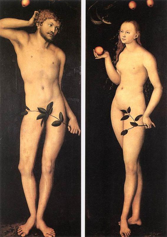Adan y Eva. Galeria Uffizi