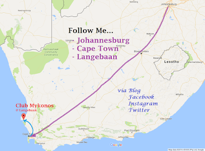 Google Map, Johannesburg, Langebaan, Mykonos, Follow Me Tour
