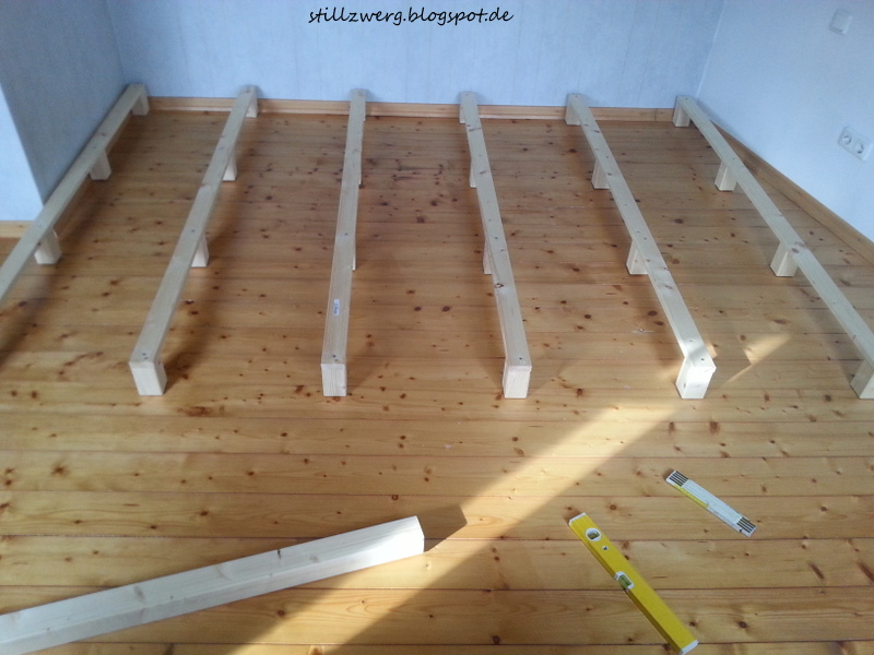 der stillzwerg ein familienbett f r f nf diy mit bauanleitung. Black Bedroom Furniture Sets. Home Design Ideas