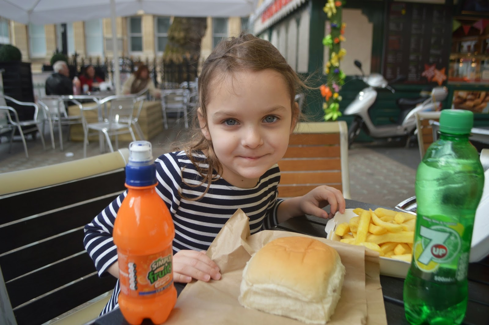 Cardiff Half Term Yo Sushi St Davids Centre Wales Hot dog and chips Bwyta Hayes Island Snack Bar