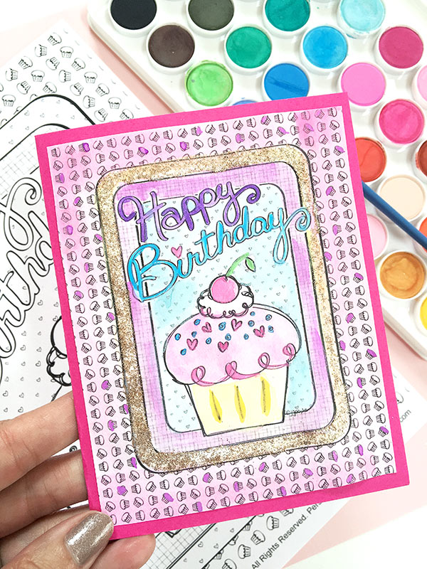 Pams Party Practical Tips DIY Birthday Card from Coloring Page – Customize Your Own Birthday Card