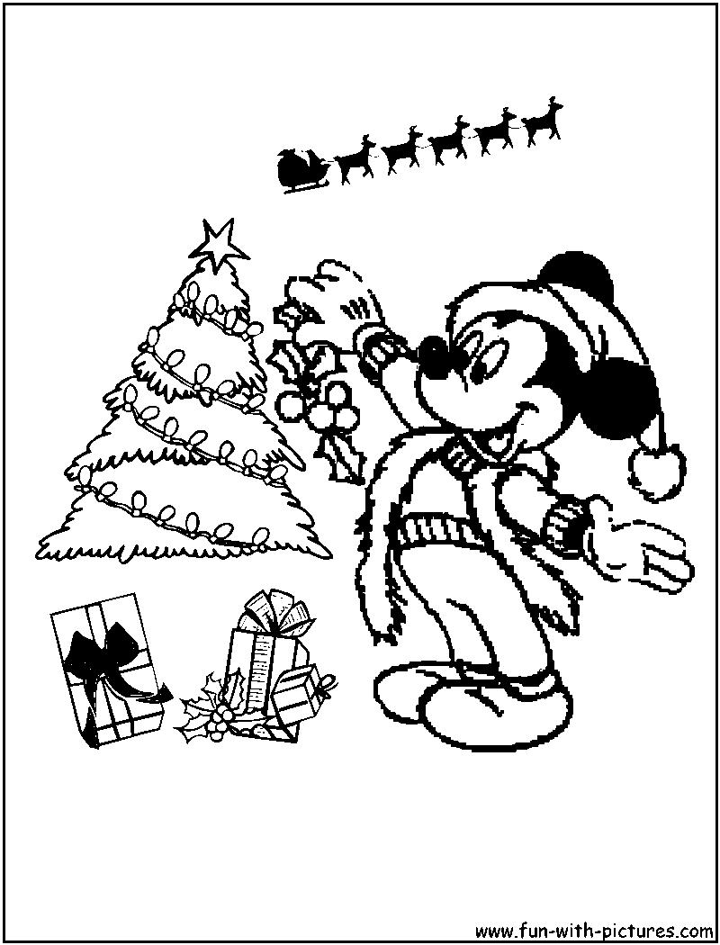 Dibujos mickey mouse navidad