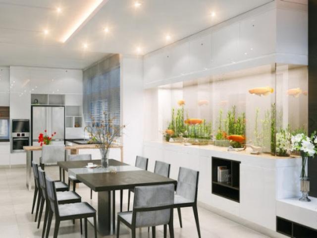 Cách bày trí nhà bếp nhỏ - sử dụng chậu cây nhỏ xinh