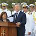 """Mauricio Macri, en el homenaje a los tripulantes del ARA San Juan: """"Vamos a seguir buscando hasta encontrarlo"""""""