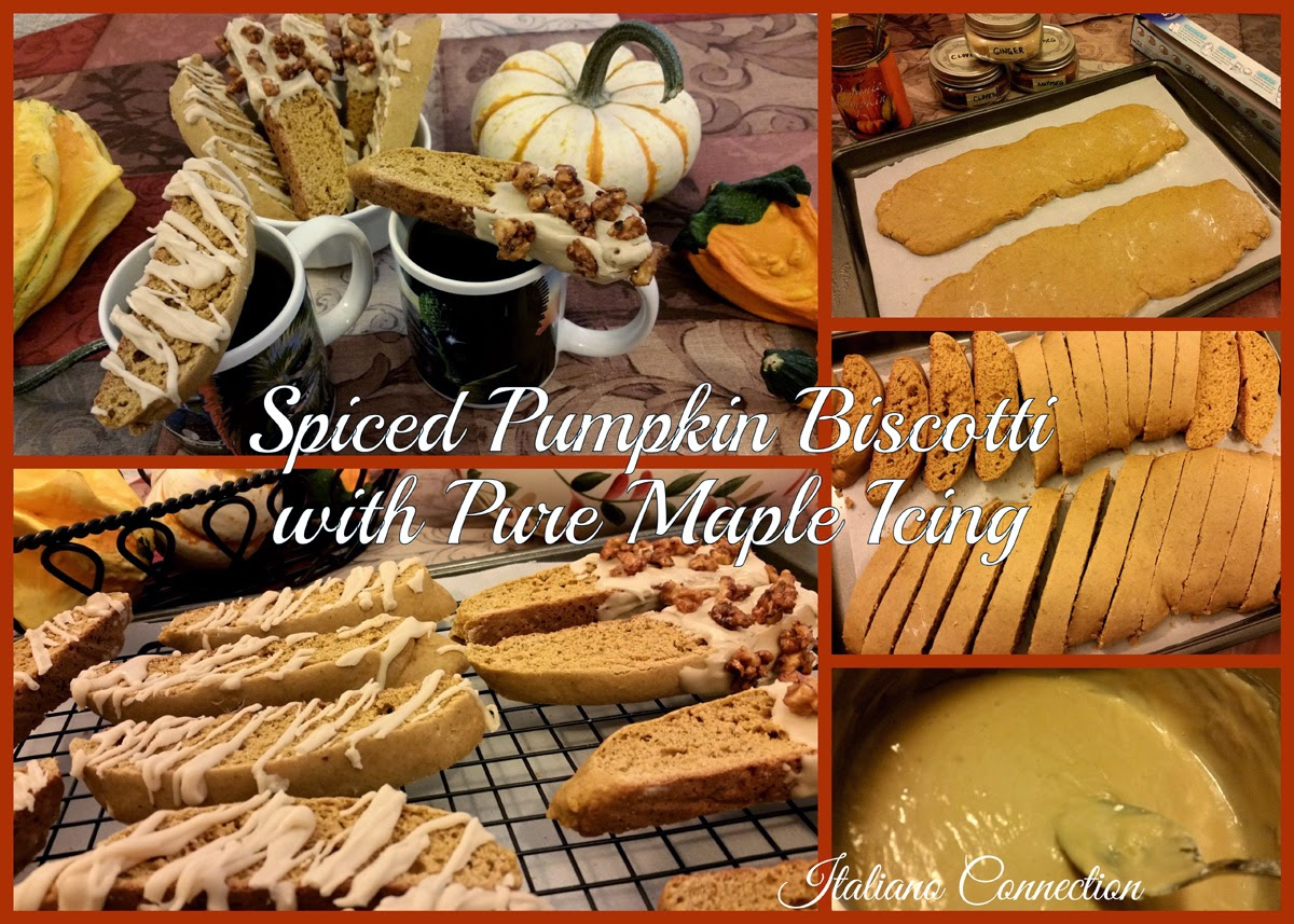 Spiced Pumpkin Biscotti with Pure Maple Icing Recipe