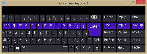 Windows PC On Screen Keyboard