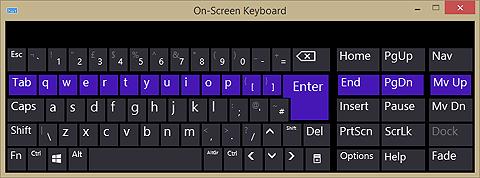 Windows PC On Screen Keyboard