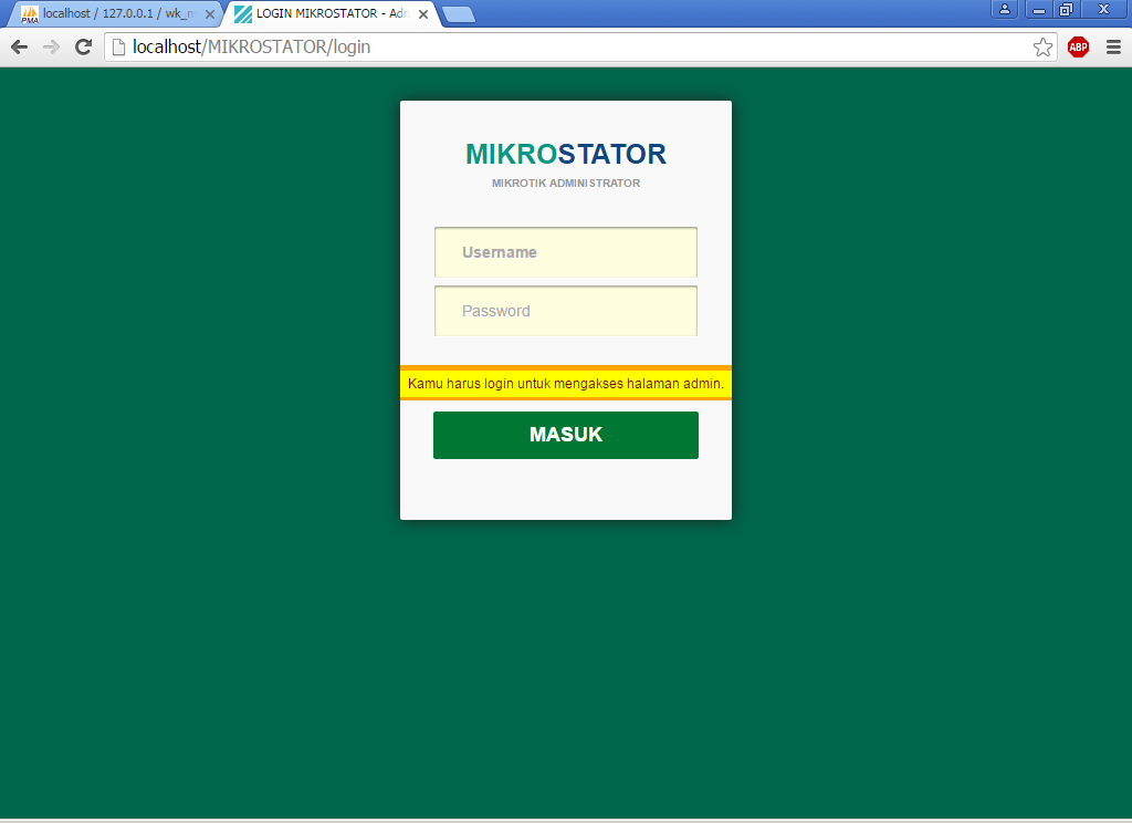 MIKROSTATOR - Simple Billing Mikrotik