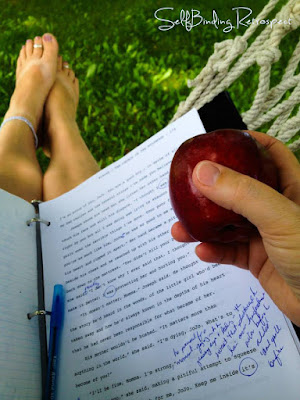 writing in the hammock - SelfBinding Retrospect by Alanna Rusnak